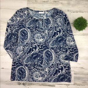 New York & Company Paisley Print Blouse Medium